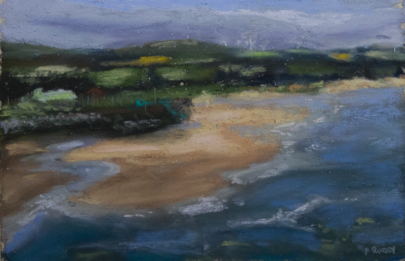Coastal Painting in Soft Pastels